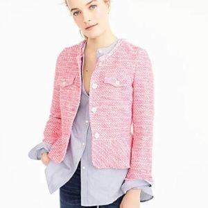 Jcrew (not factory) pink tweed peplum blazer